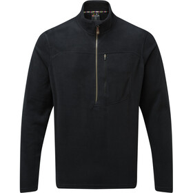 Sherpa Rolpa Maglietta Con Zip Uomo, black